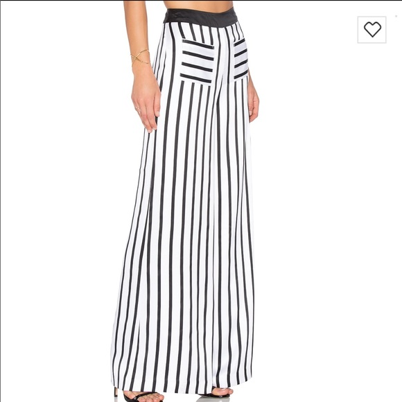 Pinstripe Wide Leg Pant in White. - size S (also in XS) Kendall + Kylie